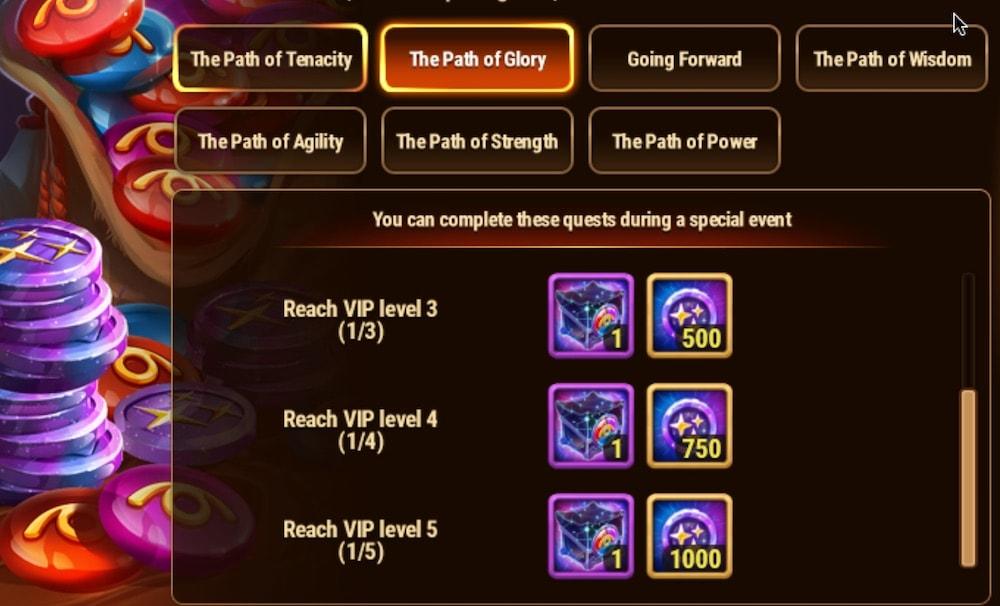 Hero Wars' skin event The Path of Glory