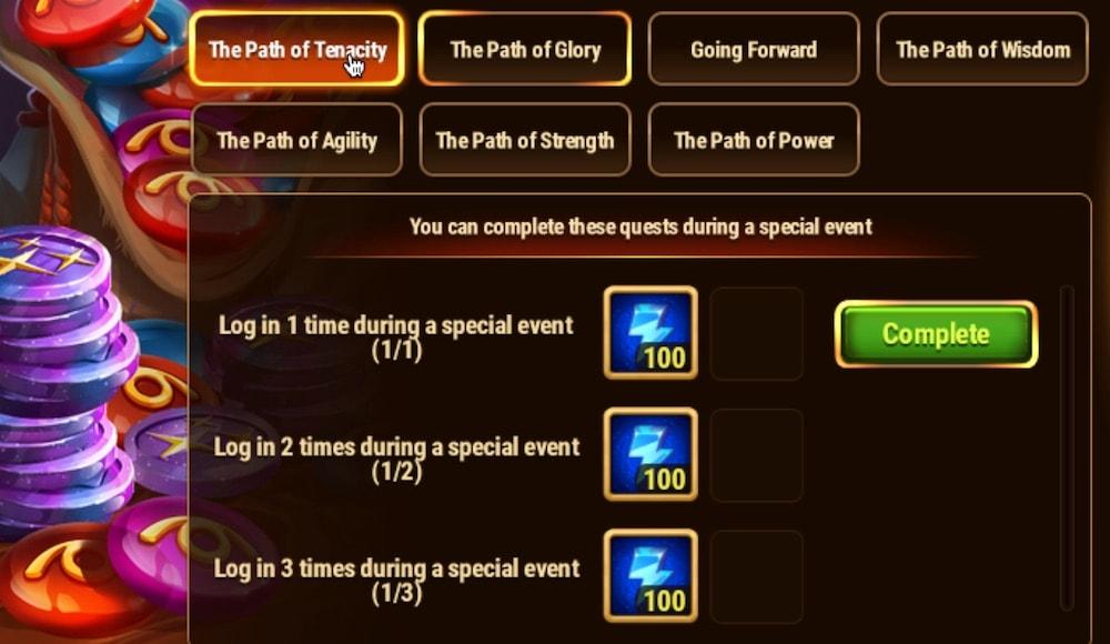 Hero Wars' skin event The Path of Tenacity