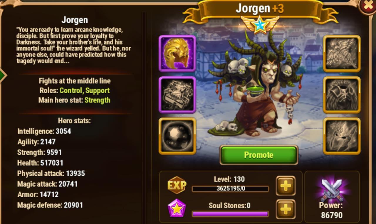 Hero Wars Jorgen